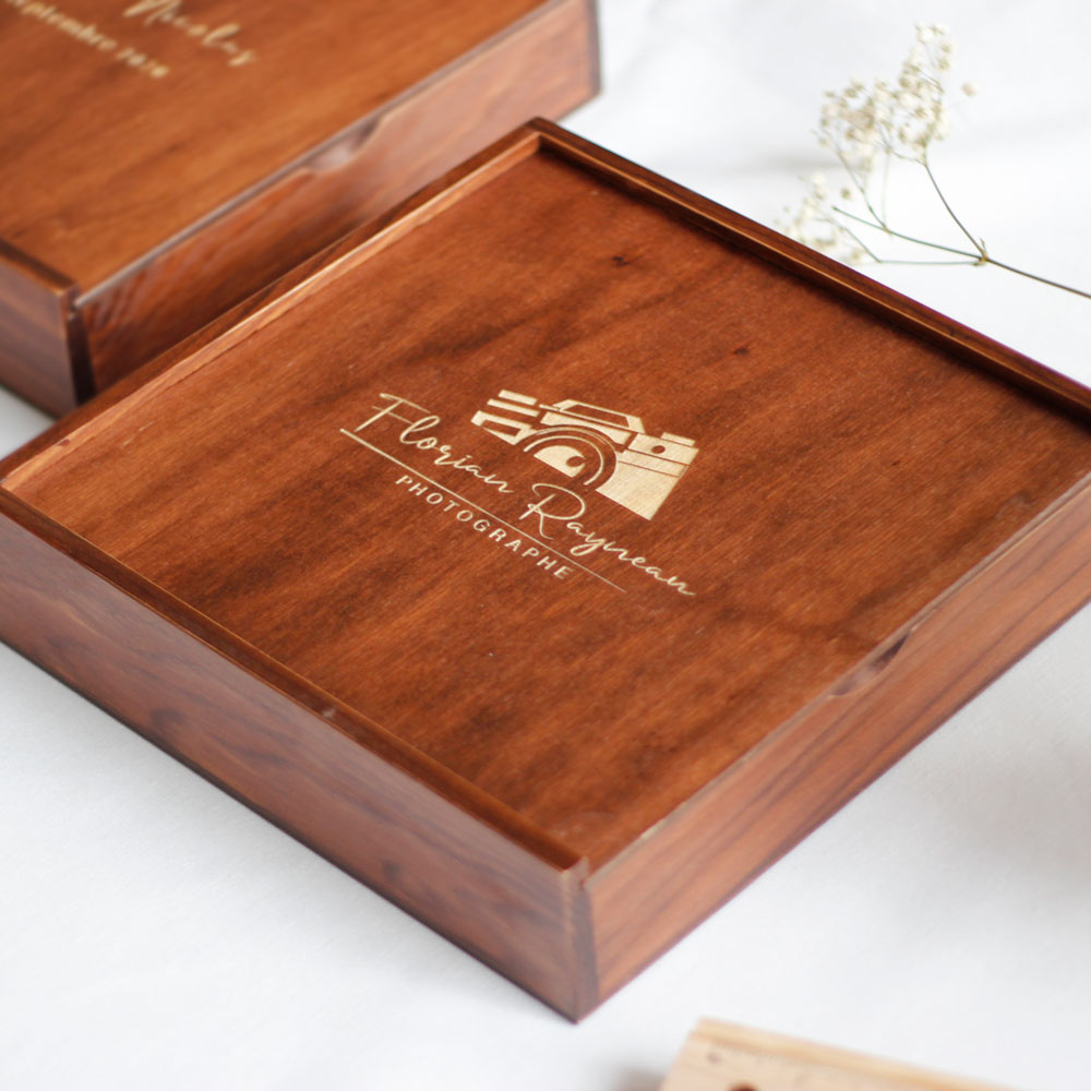 Boîte á tirages en bois